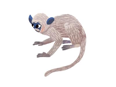 Jungle Monkey pattern tropical jungle animal nature illustration photoshop cutout