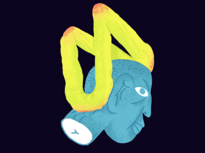 Palacinka digital coloured drawing weird photoshop illustration face