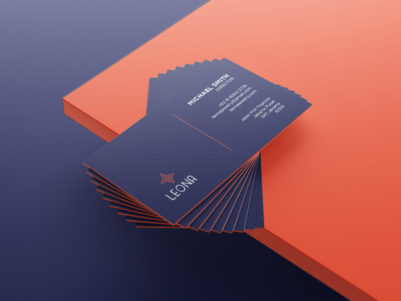 Leona Business Card Design