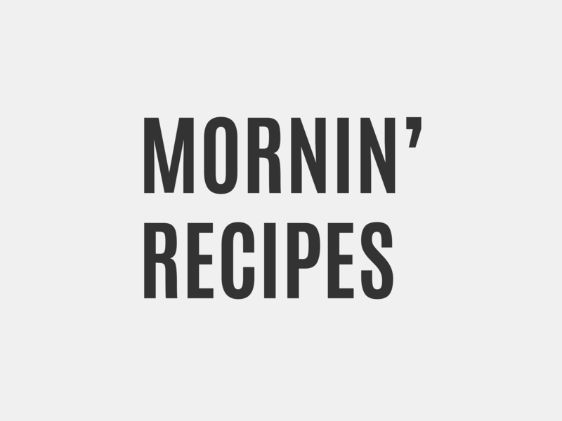 Mornin' Recipes Logotype Design