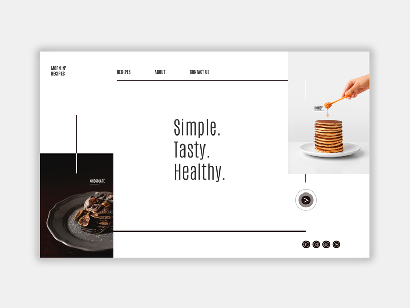 Mornin' Recipes UI Design