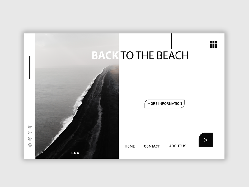 Back To The Beach UI Design