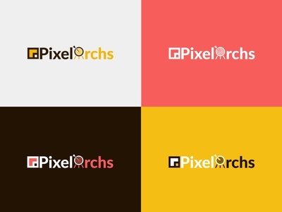 PixelArchs beauty typography design branding colors vector perfect illustration logo illustration