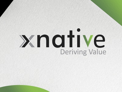 xnative logo typography branding logo colors gradients illustration logo design logotype