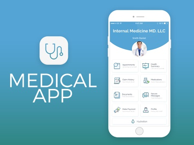 Medical Application logo icon branding ux ui application