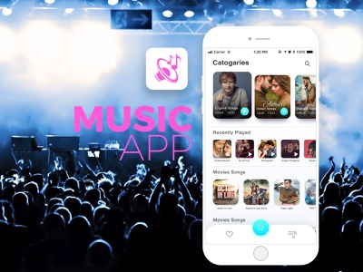 Music Application icon beauty gradients colors ux ui application app design music