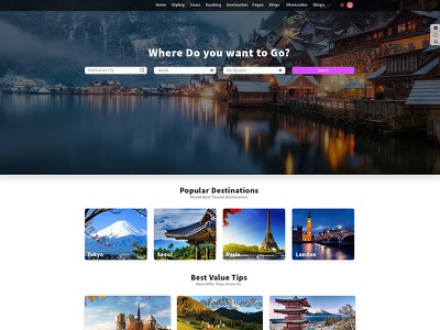 Tour Guide templates website