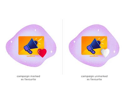 Campaign design procreate mark unmark favourite campaign illustration
