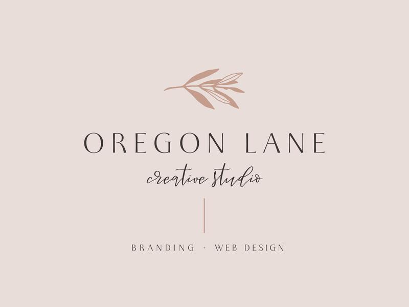 Oregon Lane Creative Studio Logo logo design concept logo feminine graphic design brand designer logo design branding brand identity brand design brand