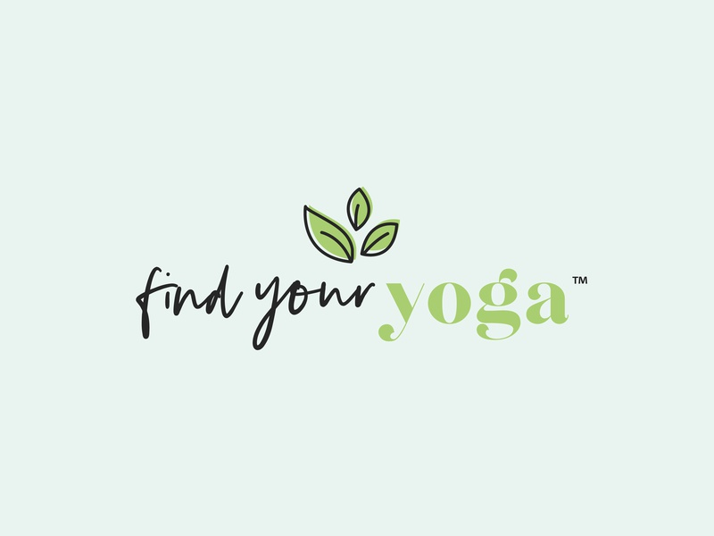 Find Your Yoga Logo logo feminine graphic design brand designer logo design branding brand identity brand design brand