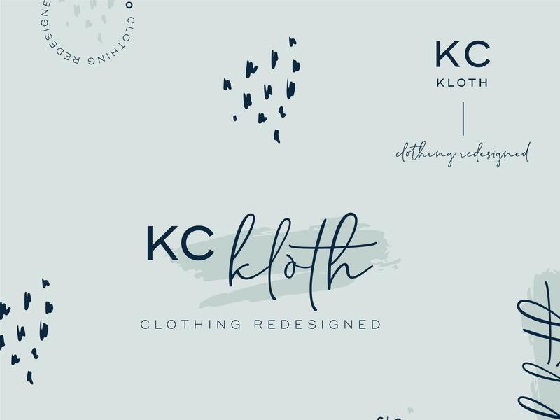 Full Branding Package for redesigned clothing co. typography submark illustration logo design feminine graphic design brand identity brand design brand