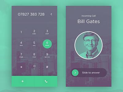 003 - Dialer 100dayui ui gradient bill gates phone dialer