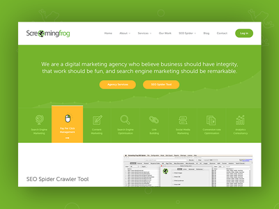 ScreamingFrog animation frog screamingfrog illustration agency seo web