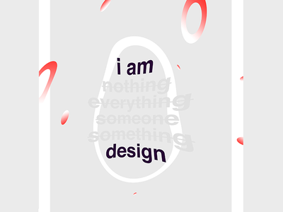 I am design design typography type print gradient poster