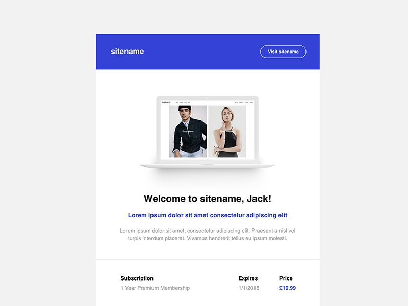 Newsletter template table html clean template email newsletter