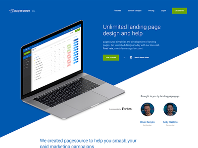 Pagesource 2018 web clean isometric mac landing page