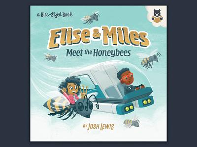 Elise & Miles 2 stem queen bee honeybee design typography kidlit kidlitart science picture book book kids children illustration