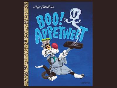 Boo! Appetweet Book golden book fan art fanart ghosts bird tweety cat sylvester looney tunes kidlit kidlitart picture book book kids children illustration
