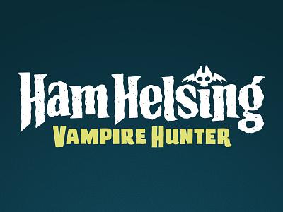 Ham Helsing Title custom lettering custom type lettering typogaphy title design pig vampire title treatment title kidlitart kidlit branding logo design book kids children