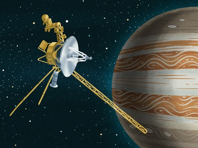 Voyager 1 & 2 by Josh Lewis - Dribbble
