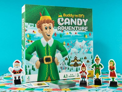 Buddy The Elf - Full Game candy north pole santa buddy the elf game board game children kids illustration