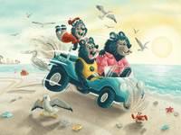 Bears on the beach full