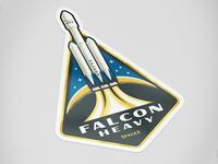 Falcon Heavy Sticker