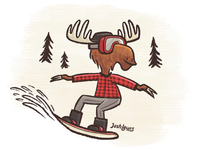 Hipster Moose