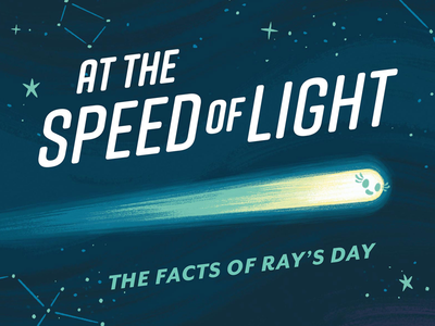 Facts of Ray's Day typography stem constellations stars light cosmos space science kids book childrens book picture book book kids children illustration