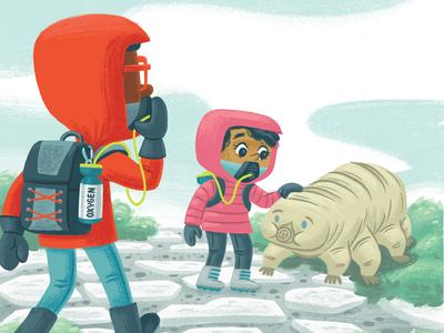 No oxygen science mountain tardigrade kidlit kidlitart picture book book children kids illustration