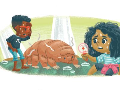 Dry desert kidlitart kidlit tardigrade science book picture book children kids illustration