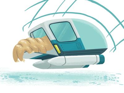 Sneaking aboard vehicle ship tardigrade book picture book kidlitart kidlit children kids illustration