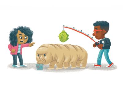 Water Bear science water bear tardigrade kidlitart kidlit picture book books children kids illustration