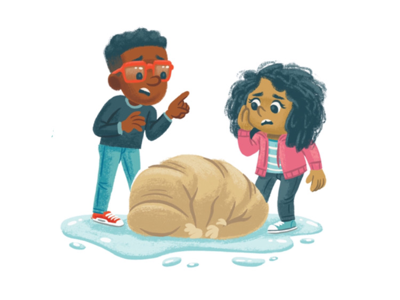 Now what?! science water bear tardigrade kidlitart kidlit picture book books children kids illustration