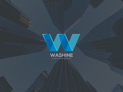 Logo for a cleaning service glass clean window wash