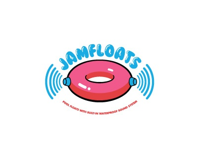Logo for a start-up inflatable rubber float pool tube