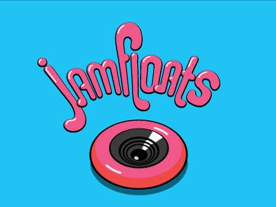 Jamfloats woofer speaker inflatable rubber float pool tube