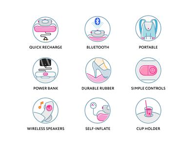 Icon set outline icons