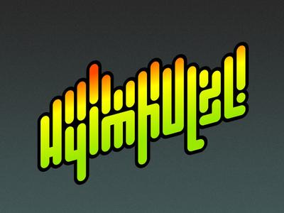 A tag for House DJ typography design graffiti eq spectrun dj logo
