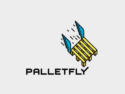 Palletfly Logo angel fly wings pallet logo
