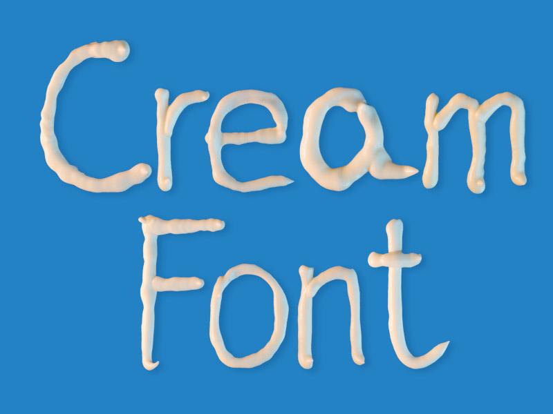 Sour Cream Font food photograhy cream font bundle lettering letter type font