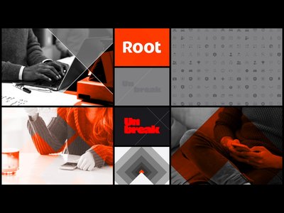 Root Screen Saver branding design