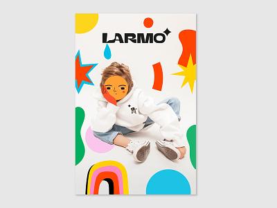 kids fashion brand identity minimal typography logo design illustration fashion branding graphic design