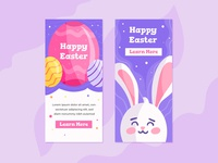 Happy Easter Day Banners