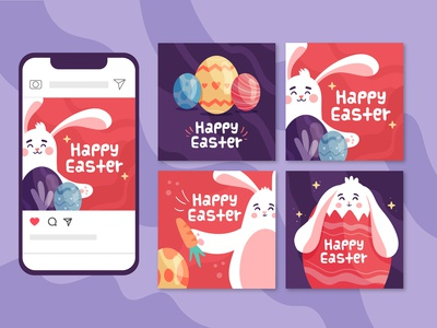Happy Easter Instagram Post Collection