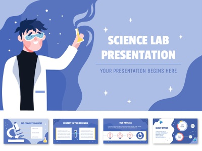 Science Lab Themed Illustrated PPT Template vector design hand drawn illustration illustration science lab lab pptx illustrated powerpoint powerpoint presentation powerpoint design powerpoint ppt template ppt