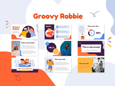 Groovy Robbie PowerPoint Template hand drawn vector hand drawn illustration design ppt template pptx ppt illustrated ppt template illustration presentation layout presentation template presentation design presentation powerpoint design powerpoint template powerpoint