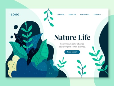 Hand Drawn Nature Life Landing Page