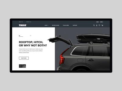 Redesign main screen Thule e-commerce