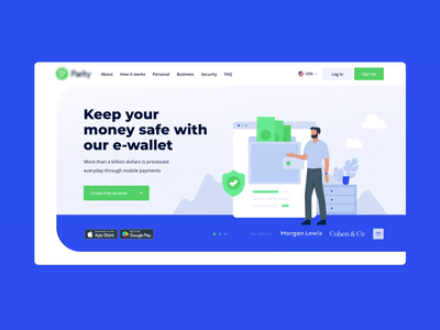 Main screen animation money management money transfer money app money main page mainpage animated after effect aftereffects illustration mainscreen homepage design flat website web ux ui gsndesign design animation